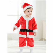 Boy Child Hat Belt Cloth Pant Christmas Costume Size 100 (Red)
