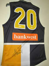 WEST COAST -DEAN COX SIGNED WCE #20 HOME JERSEY UNFRAMED + PHOTO PROOF & C.O.A