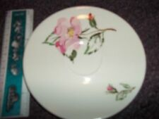 vintage rose saucer T.M.  USA 51-3 cant make out maker just owles 6 in appx.