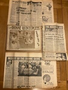 The Dionne Quintuplets Growing Up Putnam & Company + 1950s Newspaper Clippings