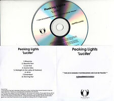 PEAKING LIGHTS Lucifer UK 8-tk numbered/watermarked promo test CD