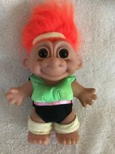 Russ Troll Workout Exercise Orange Hair 7� Doll