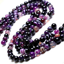 5-40PCS Natural Agate Gemstone Round Loose Beads For Jewelry Making 4-12mm