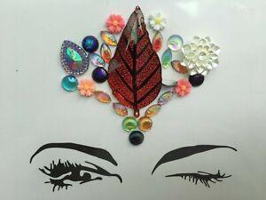 Adhesive Glitter Flower Tattoo Sticker Face Gems Festival Body Sticker Make Up