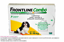 FRONTLINE COMBO DOGS FROM 2 TO 10 KG 3 VIALS AGAINST FLEAS TICKS LICE