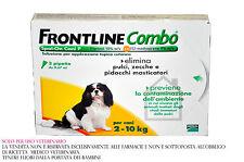 FRONTLINE COMBO CANI DA 2 A 10 KG 3 FIALETTE CONTRO PULCI ZECCHE PIDOCCHI