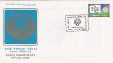 NEPAL POSTAGE STAMP – SAARC CHARTER DAY – SAARC LOGO – FDC 2002