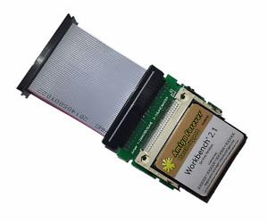 New Workbench System 2.1 on 4GB CF Card + Adapter Amiga 600 1200 Hard Drive #624