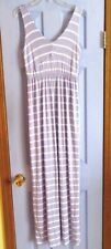 COVETED CLOTHING LILAC AND WHITE  STRIPE SLEEVELESS MAXI DRESS - LARGE