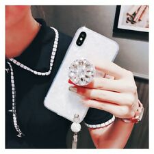 Luxury Bling Diamond Airbag Stand Tassel Case Cover for iPhone XS Max XR 6S 7 8+