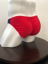 Go Softwear Red/Navy Gunnar High Cut Buns Swim Brief Medium