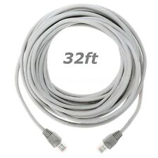 32FT 10M RJ45 CAT5 5e CAT5e Ethernet Network Lan Path Cable Male Cord Grey Us