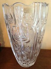 "Violetta 10"" Hand Cut 24% Heavy Lead Crystal Vase Made in Poland Mint Condition"