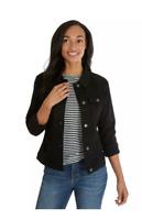 Riders by Lee Indigo Women's Button Denim Jacket, Black Size X-Large