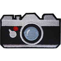 Camera Patch Iron On Sew On Shirt Jeans Bag Jacket Photography Embroidered Badge