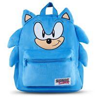 Official Sonic The Hedgehog Licensed Sonic Plush Backpack, School Bag Travel