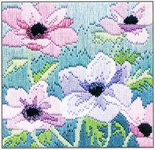 Anemones Long Stitch Kit Purple Sls16 by Derwentwater Designs