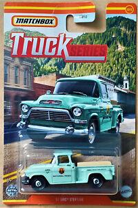 2021 MATCHBOX TRUCK SERIES - #12/12 '57 GMC STEPSIDE PICKUP - NEW ON CARD