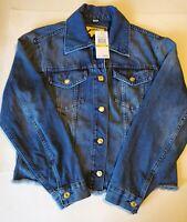 New MICHAEL Michael Kors Riviera Blue Denim Jean Jacket Women's Size Medium