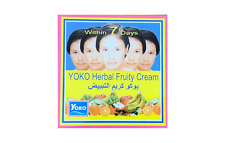 YOKO Facial Whitening Cream Herbal Fruit Extract Dry Skin Freckle Pimple 4 g