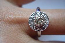 Stunning Fancy Gift~14K gold 0.78ct Diamond Engagement Halo Ring~Free Ship~Size7