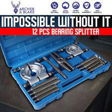 12pcs Bearing Splitter Gear Bushes Pulleys Fly Wheels Puller Separator Tool Kit