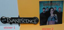Evanescence licensed stickers (2) nos Amy Lee  Sticker Lot  Rare find