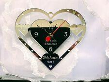 WEDDING CLOCK GIFT MR & MRS SURNAME ,PRESENT ENGRAVED WEDDING GIFT PERSONALISED