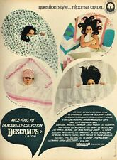 B- Publicité Advertising 1966 Linge de lit Draps Descamps l'ainé