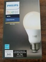 Philips Hue White A19 Bulb NEW 840 Lumens Smart Bulb Warm White LED