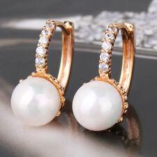 18K gold filled stunning stunning pearl wedding design woman huggie earring