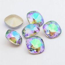 10mm CRYSTAL PARADISE SHINE Swarovski Cushion Cut Crystal (Item 4470) CFS-10-CPS