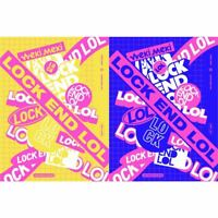 WEKI MEKI LOCK END LOL 2nd Single 2SET CD+PhotoBook+Card+Sticker+Etc+Tracking