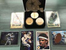 Dallas Cowboys Bronze HM LE 3 Coins/Rare/6Cards of HOF Aikman, Sanders, Smith