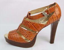 Michael Kors women's strappy platform heels sandals snake pattern shoe size 9.5