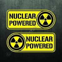 Nuclear Powered Sticker Set Vinyl Decal Label Electric Car For Tesla Model 3