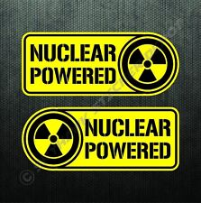 Nuclear Powered Sticker Set Vinyl Decal Nuke Badge Sticker Fits Kawasaki Honda