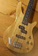 """Spalted Basswood Electric Bass Guitar Standard Scale 34"""" Natural Gloss Finish"""