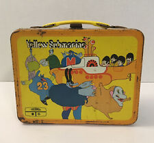 1968 Beatles YELLOW SUBMARINE Lunchbox By Thermos King-Seeley NO THERMOS