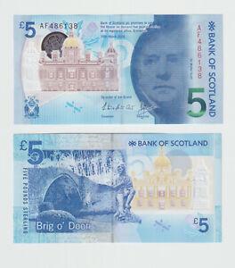 UNC Bank Of Scotland £5 Pound Banknote 2016 Polymer UK British