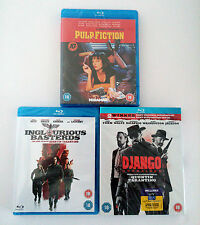 Blu-ray Quentin Tarantino Movies Lot Collection Django Pulp Fiction Inglorious