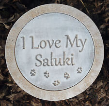Saluki stepping stone mold concrete plaster dog casting garden mould