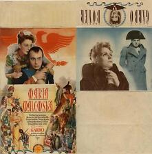 Programa PUBLICITARIO de CINE: MARIA WALEWSKA. GRETA GARBO, CHARLES BOYER.