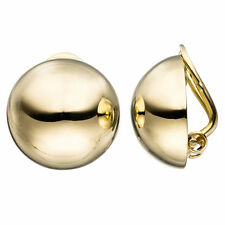 NEU Damen Ohrclips Halbkugel rund Ohrringe 333 echt Gold 333er Clips 8 Karat