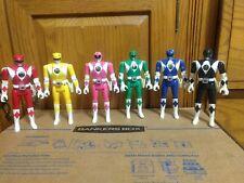 Mighty Morphin Power Rangers figures Auto Morph Fliphead Lot of 6 1993 Bandai