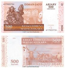 Madagascar 500 Ariary 2004 (2014) Hybrid Issue P-95 Banknotes UNC