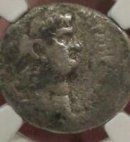 Ancient NERO tetradrachm Syria Antioch 54-68ce Ngc  very good condition