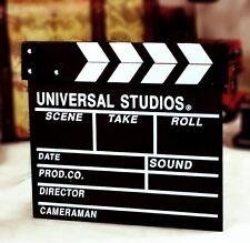 Clap claquette de Cinéma style Universal studio Filmklapper en bois 30 x 28cm