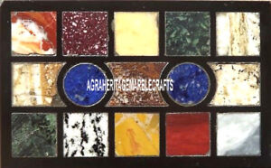 Antique Art Marble Coffee Table Mosaic Work Random Inlay Art Kitchen Decor H3793