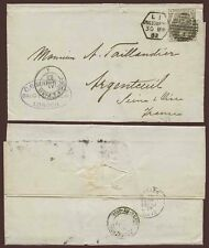 MEDICAL 1882 MEIER + CO HANDSTAMP..QV 6d Plate 18 LATE FEE DUPLEX GRACECHURCH ST